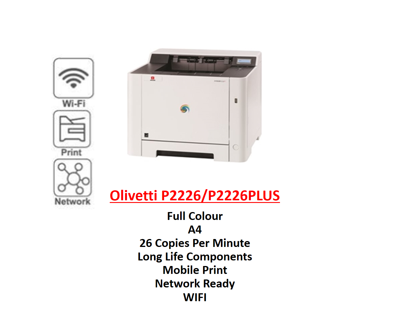 The Home Furnishings Company Olivetti d-Colour P2226/P2226 Plus